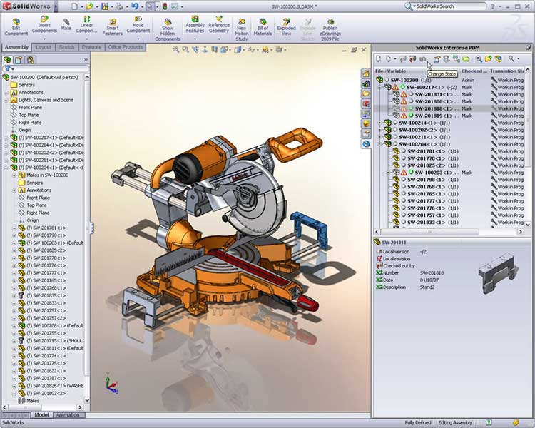 solidworks pdm professional werkomgeving