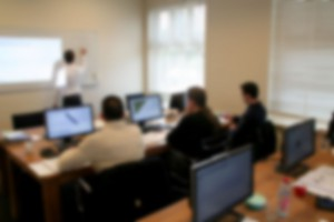 classroom solidworks training blurred