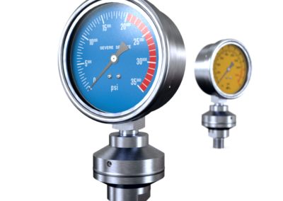 Pressure gauge with diaphragm seal, Badotherm
